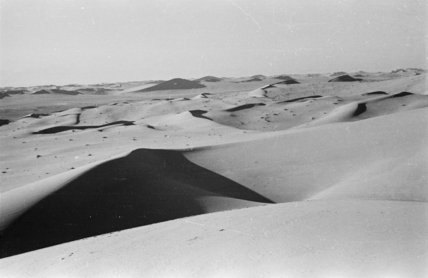 View of sand dunes in ...