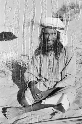 Seated portrait of a tribesman ...