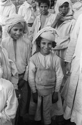 Group portrait of Arab children ...