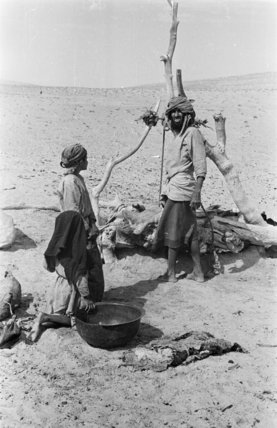 View of a Bedouin family ...