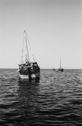 Stern view of a dhow ...