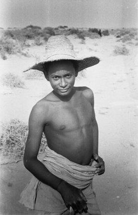 Portrait of a boy wearing ...