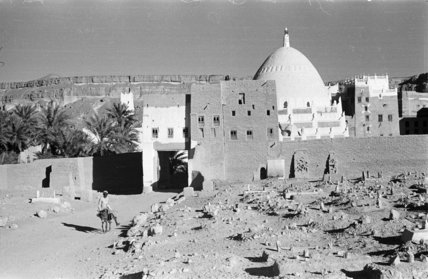 The mosque and surrounding houses ...