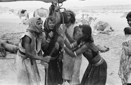 Portrait of four Sa'ar Bedouin ...