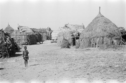 Huts at the village of ...