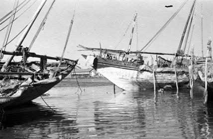 View of two sambuks (sailboats) ...