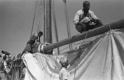 View of sailors changing the ...
