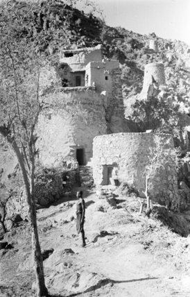 A house near the summit ...