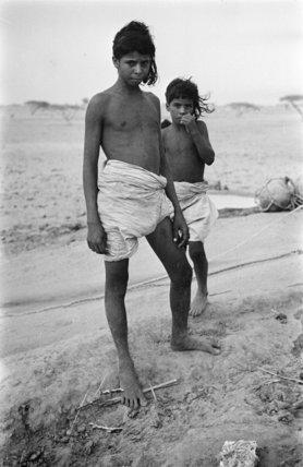 Two Bedouin boys at Bir ...