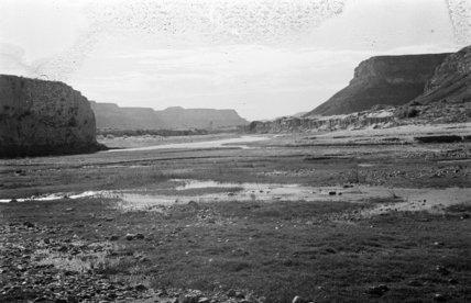 Landscape at Fughmah. A wadi ...