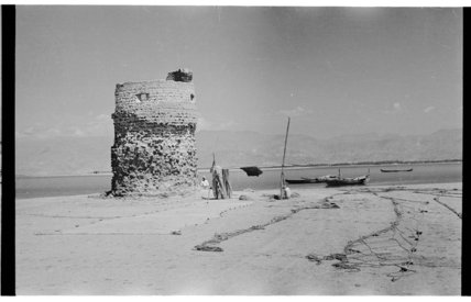 View of a ruined watchtower ...