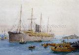 P&O Passenger Ship VECTIS leaving port