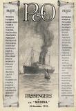 P&O Passenger List for MEDINA 1915