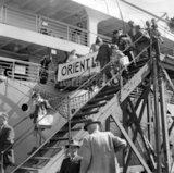 Passengers disembarking ORSOVA at Sydney