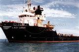 LADY DAWN anchored at sea