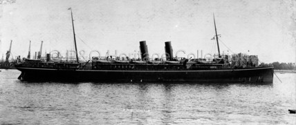 CHINA at anchor