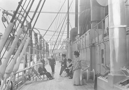 Promenade deck onboard CALEDONIA