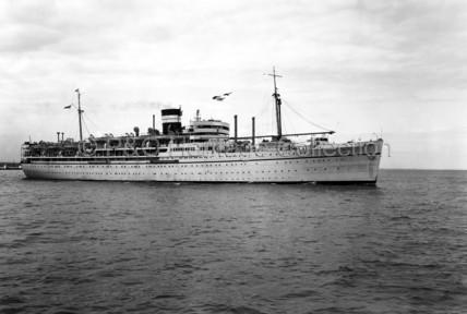 DUNERA at sea