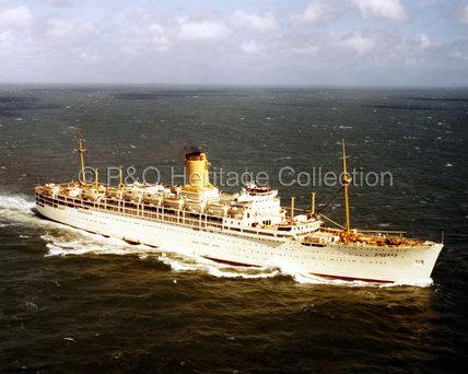 CHUSAN at sea