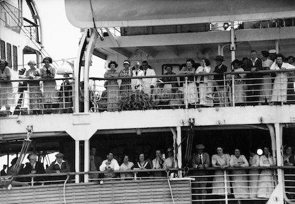 Passengers onboard STRATHNAVER