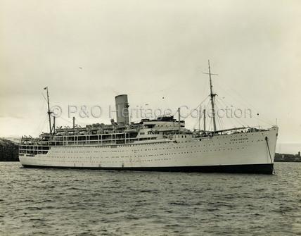 STRATHEDEN at anchor
