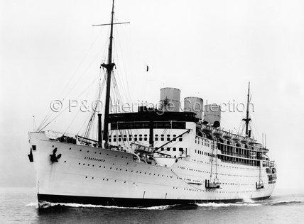 STRATHNAVER on sea trials
