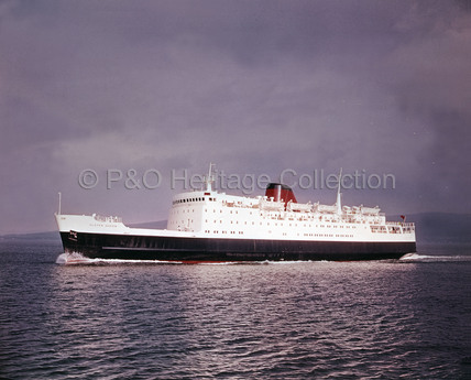 ULSTER QUEEN on sea trials