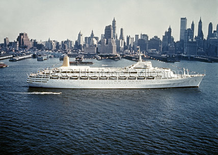 CANBERRA making her maiden call at New York