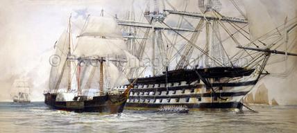 WILLIAM FAWCETT and HMS Queen in 1837