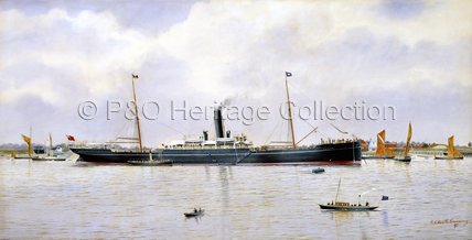 CEYLON at anchor on the Thames