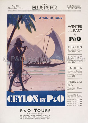 P&O Ceylon Advert, 1931