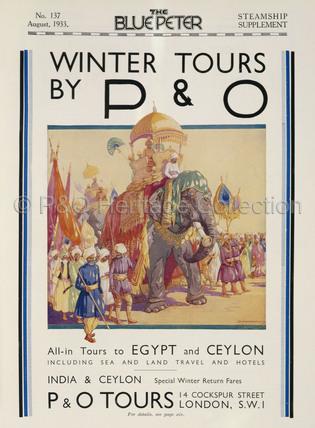 P&O Winter Tours Advert, 1933