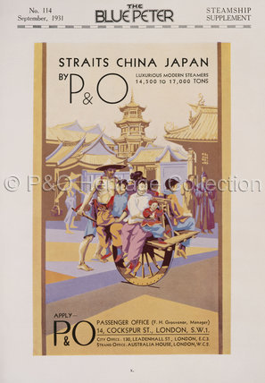 P&O China Straits Advert, 1931