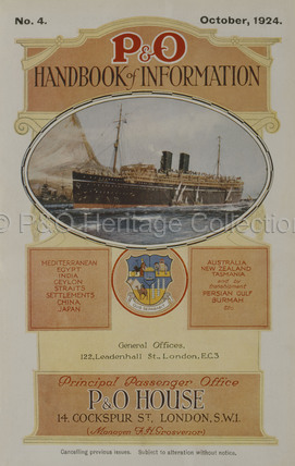 P&O Handbook of Information for 1924