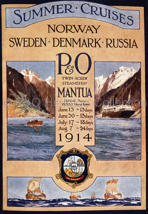 Summer Cruises by P&O's MANTUA 1914