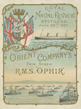 Royal Naval Review Menu 1897