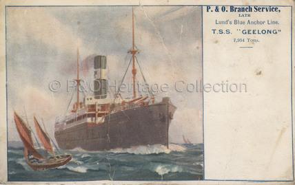 GEELONG at sea