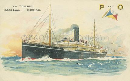 DELHI at sea