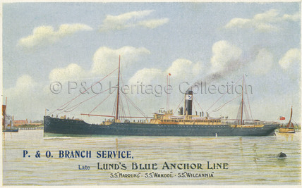 Early P&O Branch Service Postcard