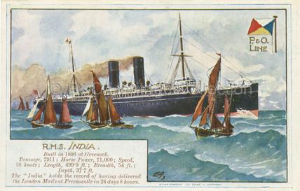 INDIA at sea