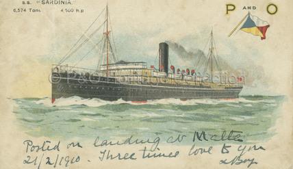 SARDINIA at sea