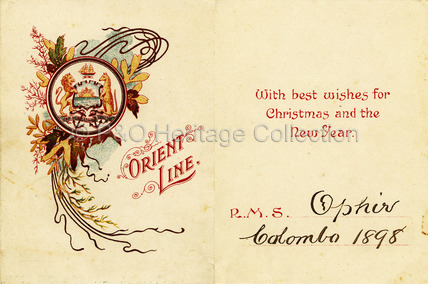 Christmas and New Year card 1898