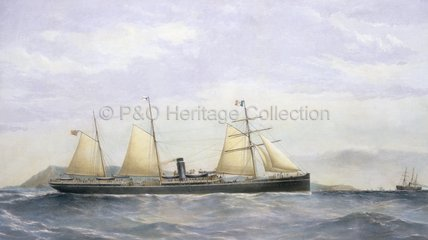 The P&O steam ships ANCONA and VERONA