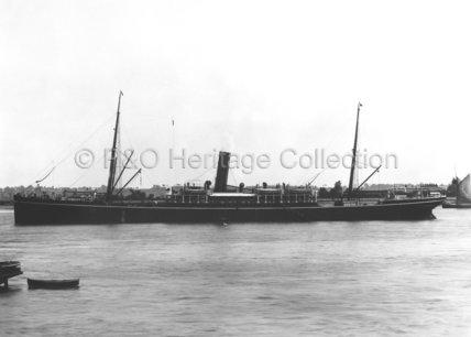 BORNEO at anchor