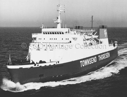 EUROPEAN ENTERPRISE at sea