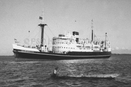 MOMBASA at anchor