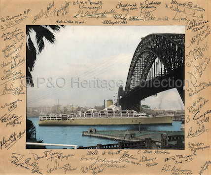 ORCADES passing under Sydney Harbour Bridge