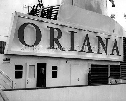 H.M. Queen Elizabeth II visiting ORIANA