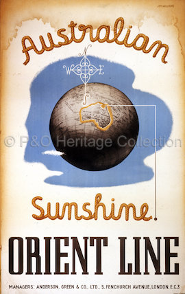 Australian Sunshine' - Orient Line poster