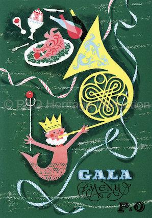 CANBERRA maiden voyage gala menu